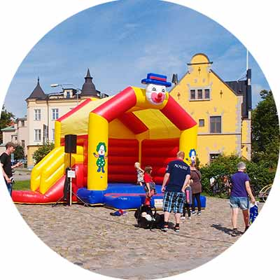 corporate bouncing castles hire